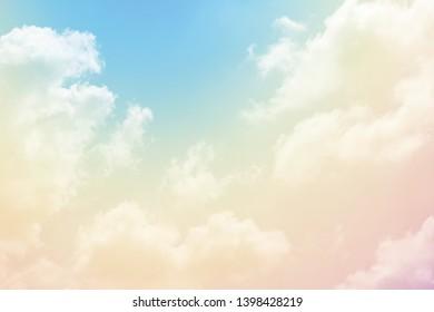 Cloud background with a pastel colour
