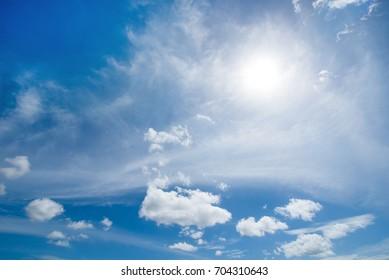 Cloud with beautiful blue sky