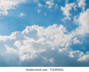 Cloud and blue sky.