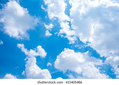 Cloud and blue sky background.