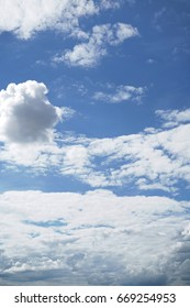 Cloud in blue sky background