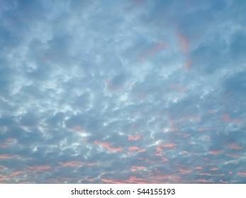 Cloud blue sky background,  evening cloud