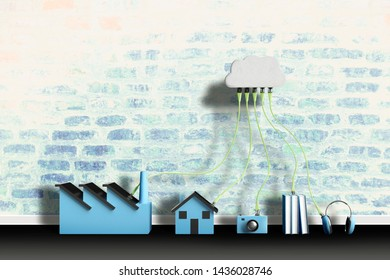 cloud computing and data sharing concept