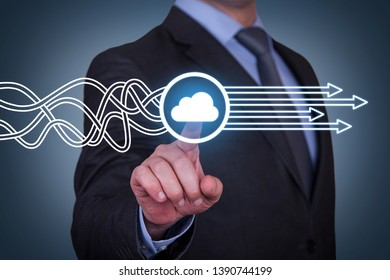 Cloud Computing Solution Concepts on Touch Screen