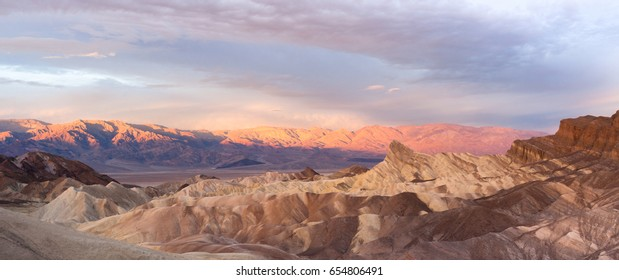 The cloud cover makes it dramatic at sunrise in Death Valley