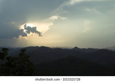 Cloud , dark sky , sunset