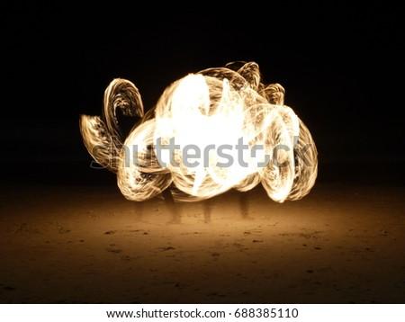 Cloud of Fire - Fire dancing in Koh Samet Thailand