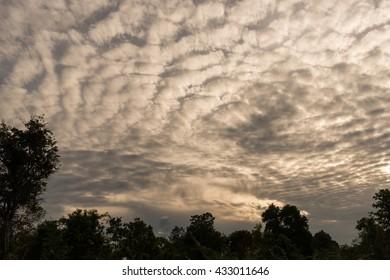 Cloud Fleece , the clouds ,dark cloud in morning ,rainy season ,thailand