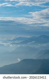 Cloud and fog cover all mountain, View of Dalhousie from kalatop. - Shutterstock ID 2026115411