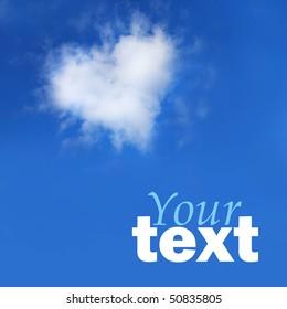 Cloud in form of love symbol
