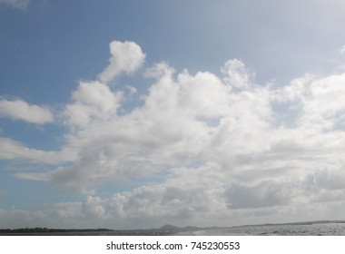 Cloud formation over tropical waters