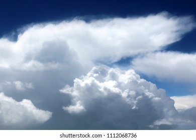 Cloud formations in the blue sky over Mumbai