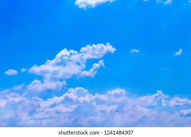 Cloud groups patterns on bright bluesky background with mild wind