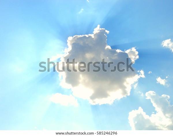 The cloud has closed the sun nature season summer