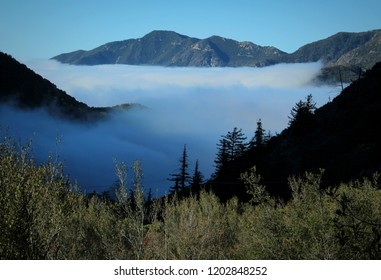 Cloud Inversion Over the Angeles National Forest, Viewed from Mount Baldy, California
