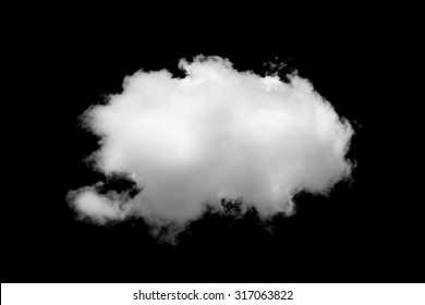Cloud isolated on black background