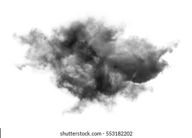 Cloud Isolated on white background,Textured Smoke,Abstract black