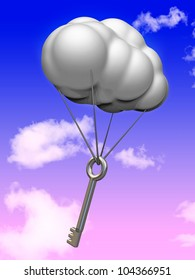 Cloud with key