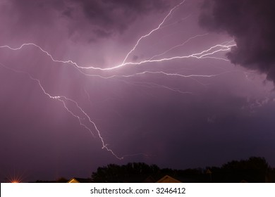 cloud lightning thunder storm weather rain