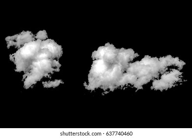 cloud on black clipping path