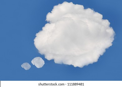 cloud on blue background,idea box.