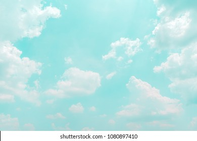 Cloud on blue sky background - Vintage effect style pictures