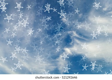 cloud on blue sky for Christmas background