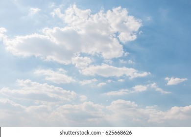 Cloud on blue sky in the daytime