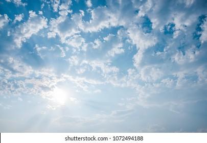 cloud on skyblue