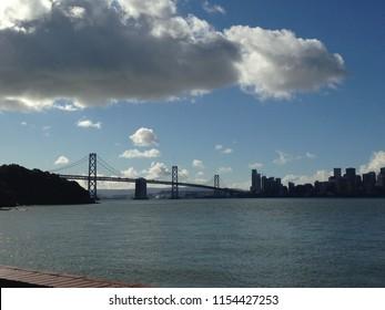 Cloud over Bay Bridge