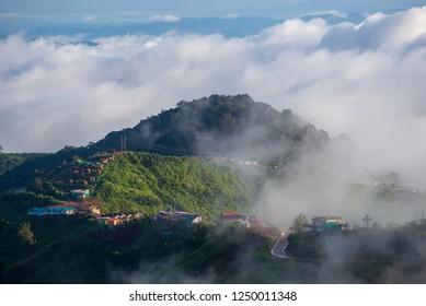 cloud over lake