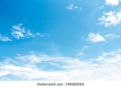 Cloud patterns on bluesky background with light wind and space