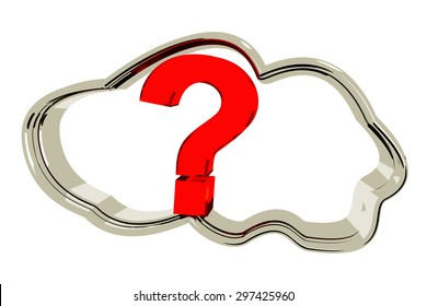 Cloud with a question mark