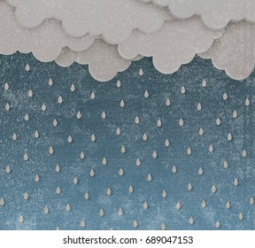 cloud and rain background , illustration