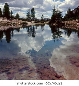 Cloud reflections in Lofty Lake, Uinta-Wasatch-Cache National Forest, Uinta Range, Utah