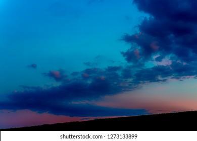 Cloud river, Appalachian sunset, Webster, West Virginia, USA