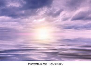Cloud, sea and sun background