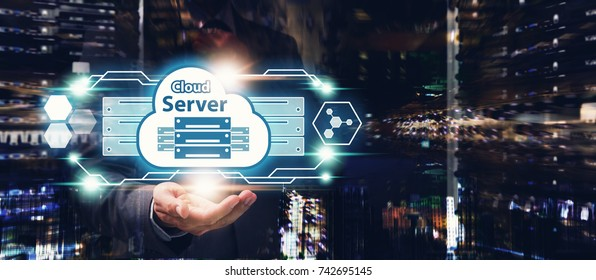 Cloud Server Computing service, Cloud server application manage file sharing in data center for network security computer