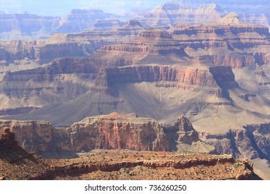 Cloud shadows over cliffs at Grand Canyon, Arizona