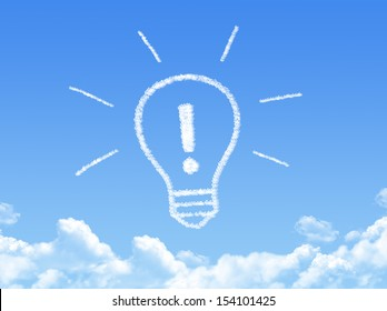 Cloud shaped as Exclamation Mark idea