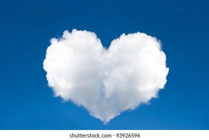 cloud shaped heart in the sky