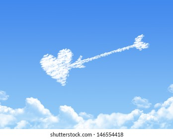 Cloud shaped as love ,dream concept