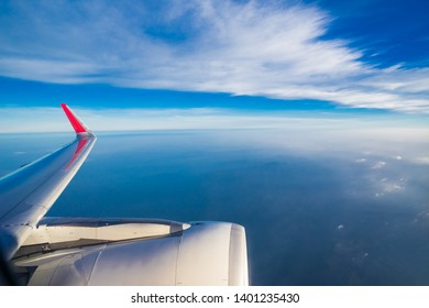 cloud sky looking form airplane window in air