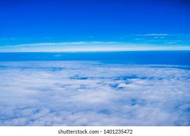 cloud sky looking form high air