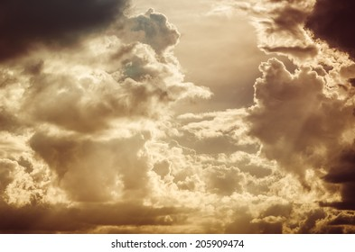 Cloud and sky in the spring season nature vintage