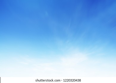 Cloud sky sunrise during morning background. Blue pastel heaven,soft focus lens flare sunlight. Abstract blurred white cyan gradient of peaceful nature. Open view windows beautiful summer spring - Shutterstock ID 1220320438