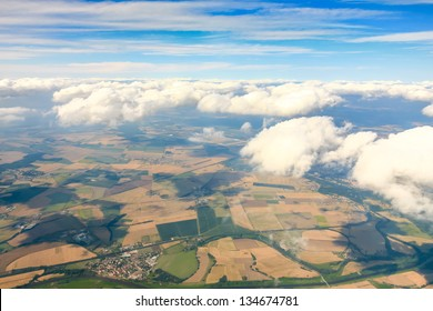 Cloud sky view from aeroplane