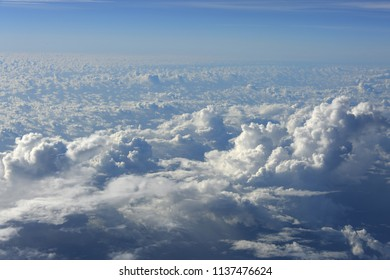 cloud and sky, view from airplane