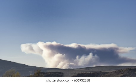 Cloud of smoke from a forest fire