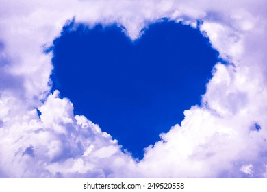 Cloud space shape a heart.
